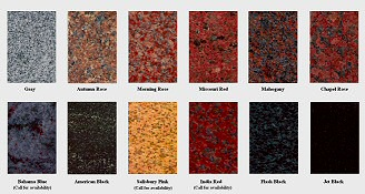 Stone Types - Grain and Color